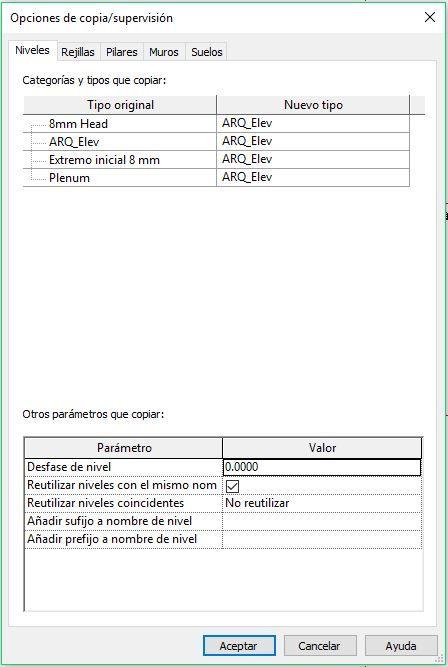 PESTAÑA OPCIONES REVIT