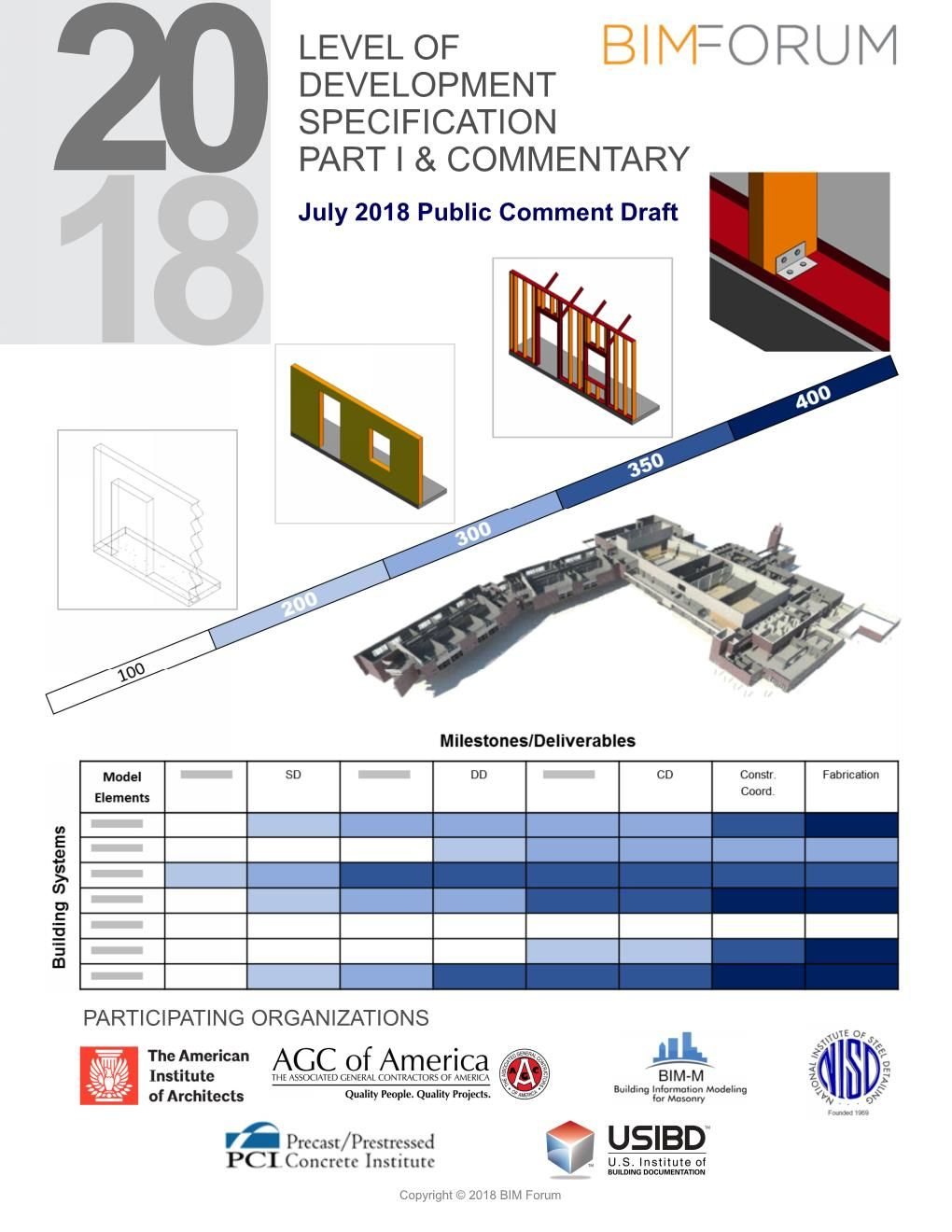 Imagen 2. Portada LOD Specification 2018 (BIM FORUM).