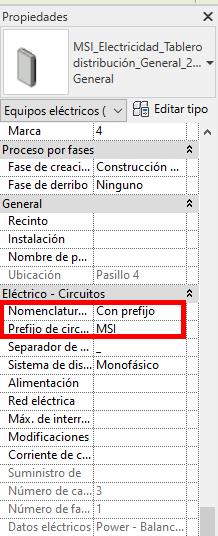 Img.5 Opciones nomenclatura circuito