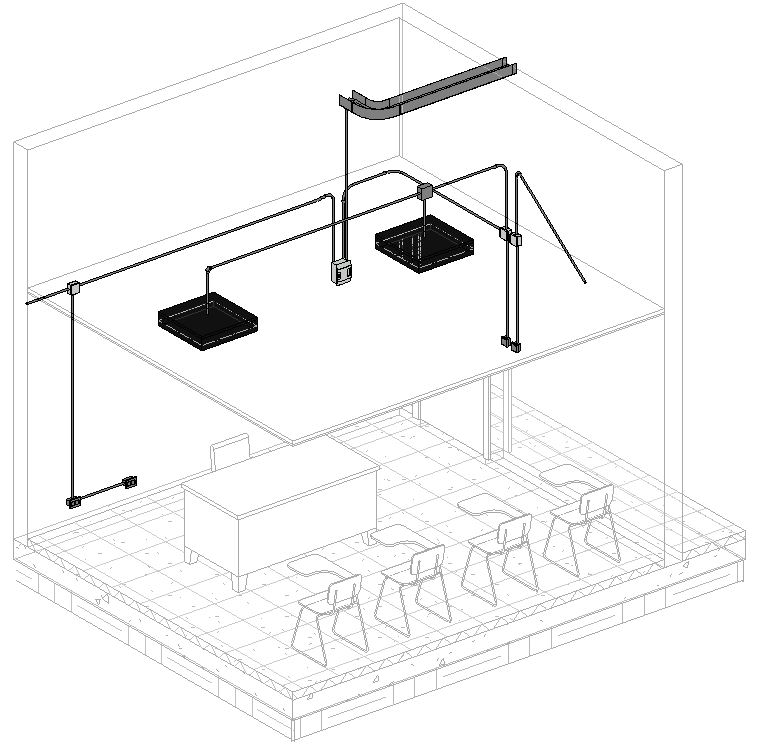 Cuadro de texto: Ilustración 8 Modelado eléctrico 3D