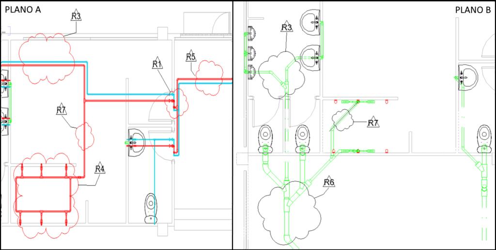 Cuadro de texto: Ilustración 1_Revisiones por plano arriba, Revisiones por proyecto abajo. Fuente propia.