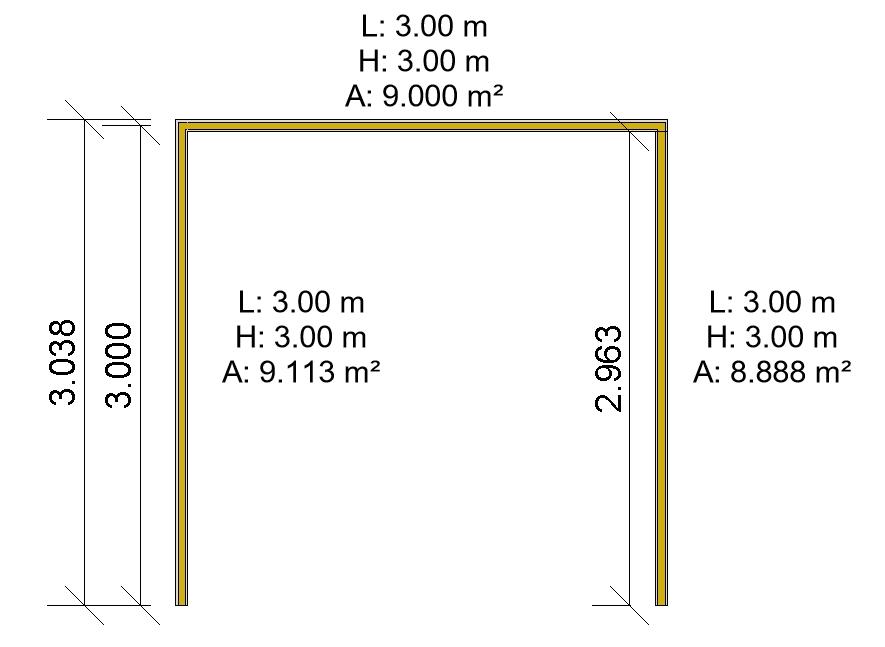 Cuadro de texto: Imagen 2. Tres muros unidos. Fuente propia