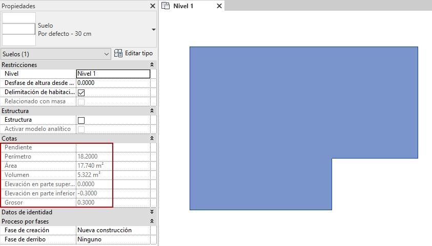 Cuadro de texto: Imagen 8. Datos de medición del Suelo. Fuente propia.