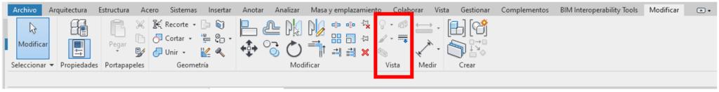 Imagen 5. Paleta de herramientas con la ubicacion de la herramienta Desplazar elementos.Fuente propia
