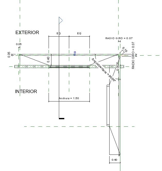 Imagen 3. Plano de planta de modulo de ventana. Fuente propia 1