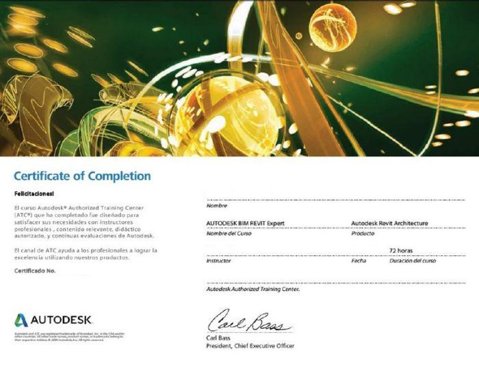 certificados oficiales 1. Certificado Autodesk